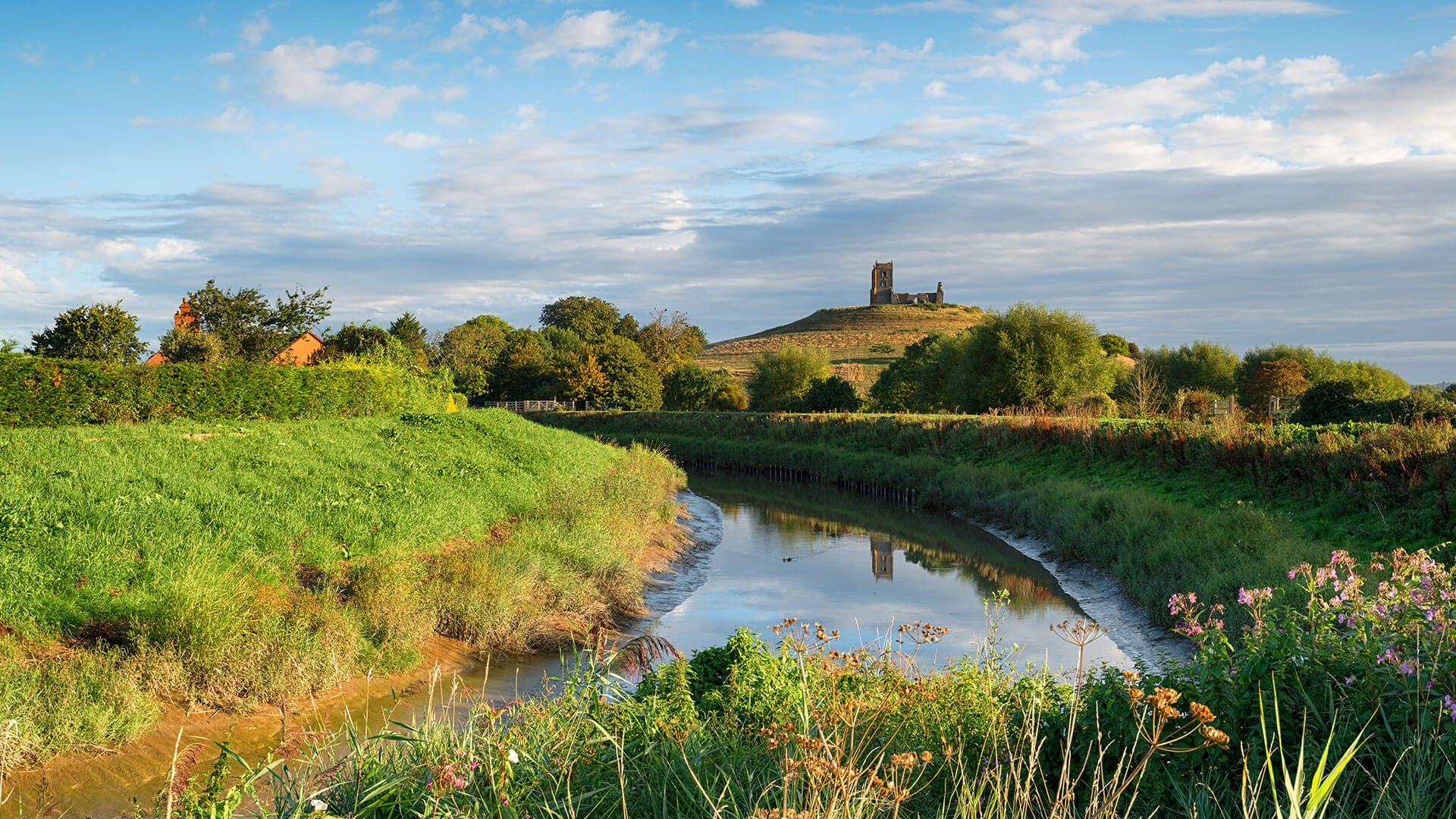 River Fields Glastonbury Tor